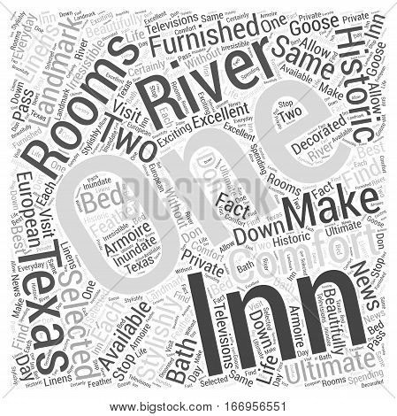Inn on the River Word Cloud Concept