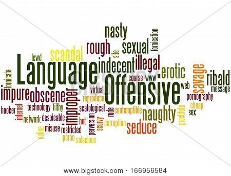 Offensive Language, Word Cloud Concept 5