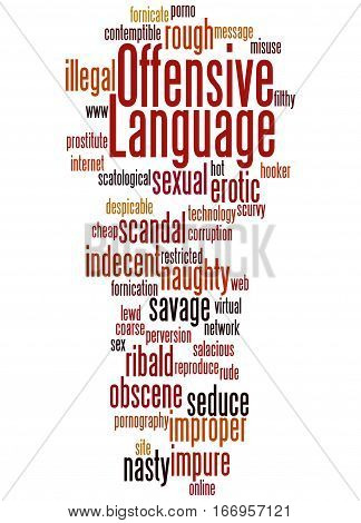Offensive Language, Word Cloud Concept 8