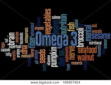 Omega 3, Word Cloud Concept 7