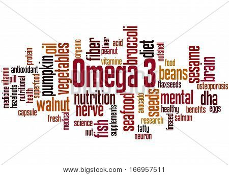 Omega 3, Word Cloud Concept 8