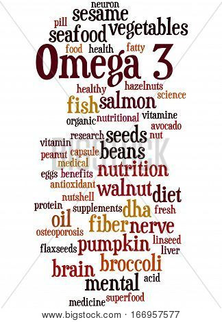 Omega 3, Word Cloud Concept 9