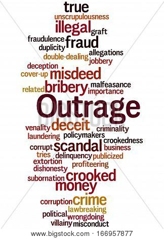 Outrage, Word Cloud Concept 2