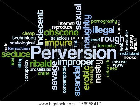Perversion, Word Cloud Concept 4