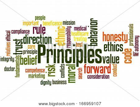 Principles, Word Cloud Concept 2