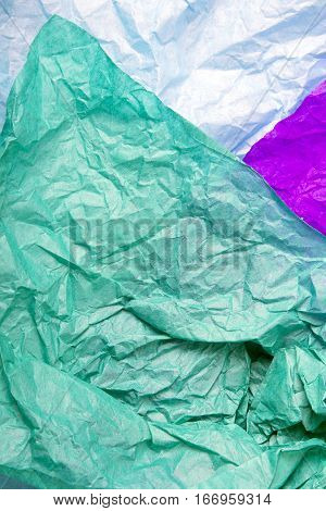 colorful tissue paper texture for background, copy space