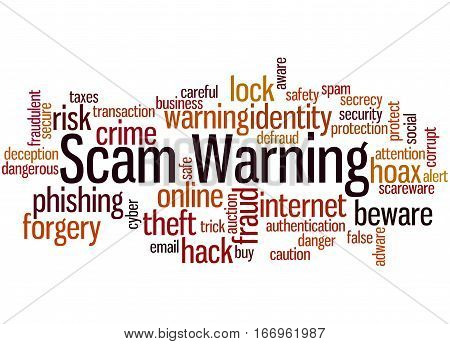 Scam Warning, Word Cloud Concept 9