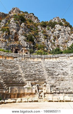 Archeology Theater  In  Myra   Necropolis And Stone