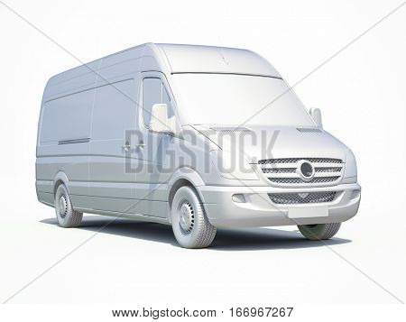 3d render: 3d White Delivery Van Icon, Transporting Service, Freight Transportation, Packages Shipment, International Logistics, 3d Postal Van, 3d Home Delivery Sign