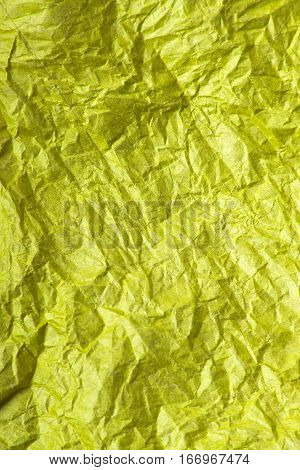yellow tissue paper texture for background, copy space