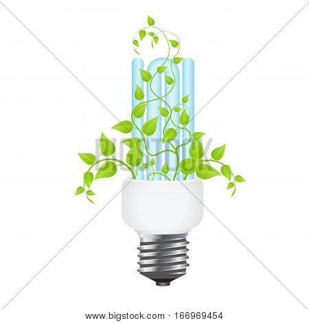 power saving. green light eco concept. vector illustration