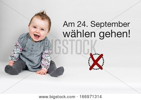Baby With German Appeal To Vote At German Federal Election 2017