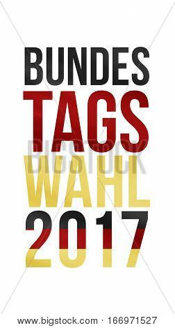 German Words For Federal Election 2017 In Black Red Gold