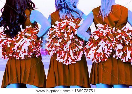 Three Cheerleaders in a Row