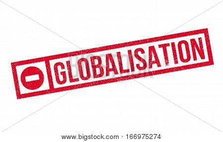 Globalisation rubber stamp. Grunge design with dust scratches. Effects can be easily removed for a clean, crisp look. Color is easily changed.