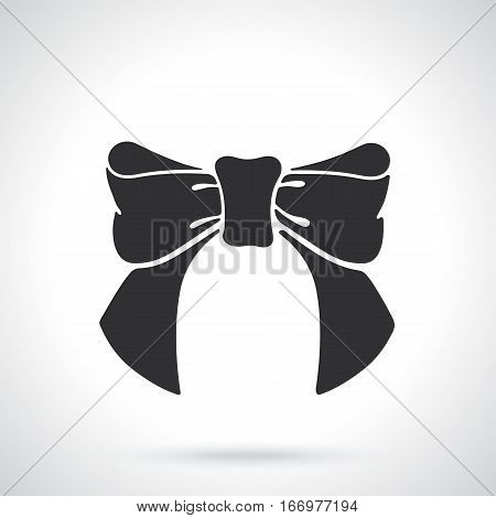 Vector illustration. Silhouette bow-knot of ribbon. Template or pattern. Decoration for greeting cards, wallpapers, emblems