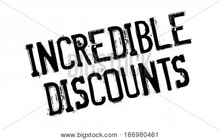 Incredible Discounts rubber stamp. Grunge design with dust scratches. Effects can be easily removed for a clean, crisp look. Color is easily changed.