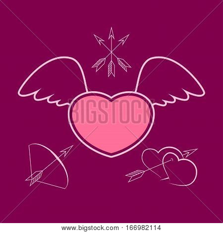 Heart with Wings, Winged Heart ,Happy Valentines Day
