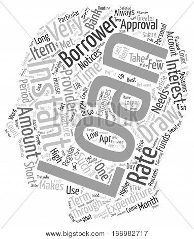 Instant Loans For The Needs That Cannot Wait Long For Approval text background wordcloud concept