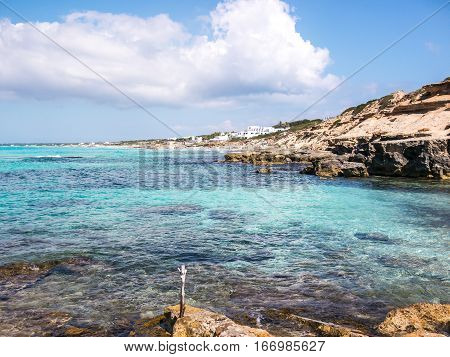 Turquosie Waters of the Formentera Island, Spain