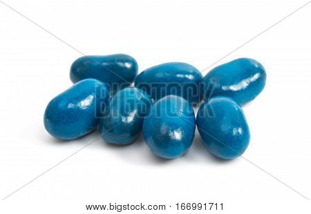 candy jelly beans isolated on white background