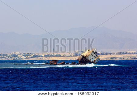 The Loullia ship wreck near the island of Tiran.