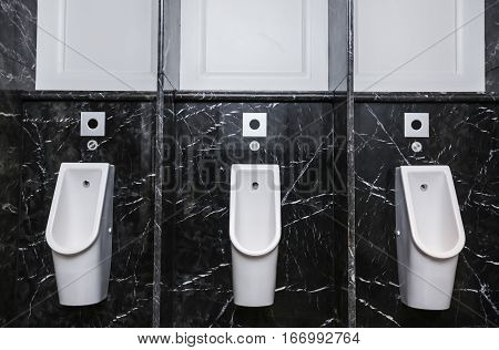 Male toilet bowl / urinals at toilet.