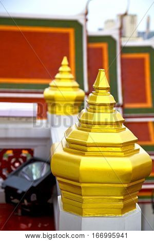 Roof  Gold    Temple     Bangkok  Electrical Lamp