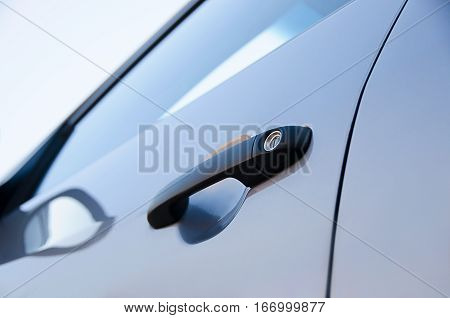 Car door handle. Luxury door handle. Luxury door handle