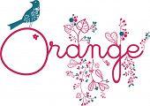 orange and bird poster