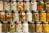 Jars of traditional Brazilian vegetables from the state of Goias. poster