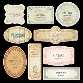 Vector Labels Template poster