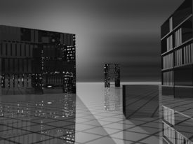 Modern Offices Grayscale Greyscale