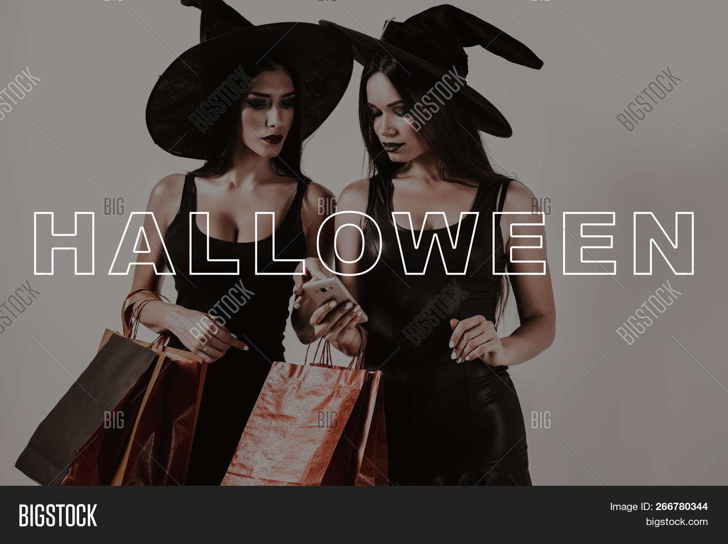 Halloween Party Packages.Woman Visit Halloween Image Photo Free Trial Bigstock