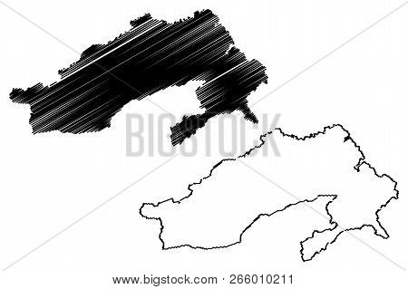 Arunachal Pradesh (states And Union Territories Of India, Federated States, Republic Of India) Map V