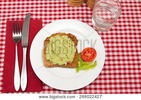 Avocado On Toast A Healthy Snack Of Avocado On Toast