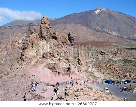 Weird geological formations in the national park of Tenerife island