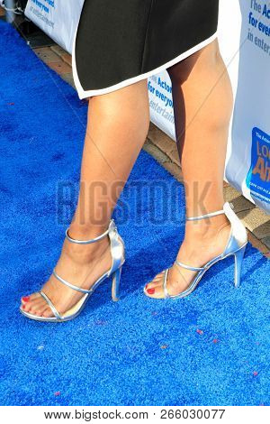 LOS ANGELES - OCT 28: Monique Coleman, shoe detail at The Actors FundÕs 2018 Looking Ahead Awards at the Taglyan Complex on October, 2018 in Los Angeles, California