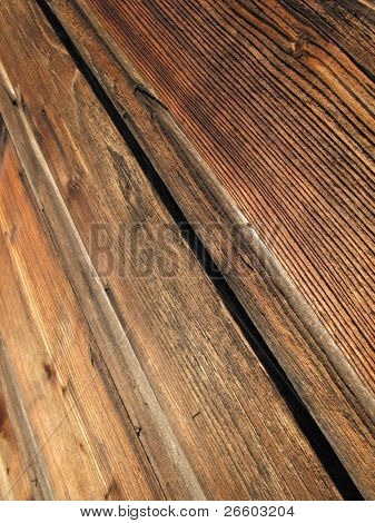 Fumed wooden clapboards