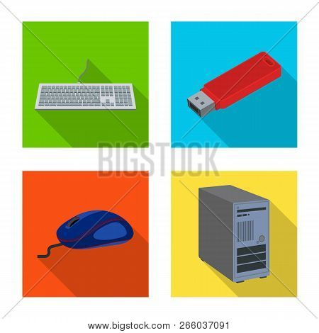 Vector Illustration Of Laptop And Device Symbol. Collection Of Laptop And Server Stock Vector Illust