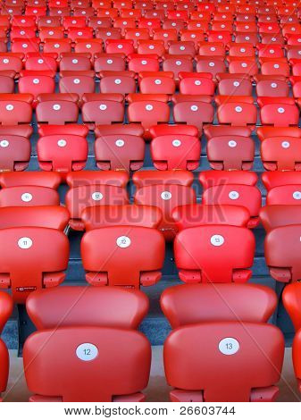 Red folding seats