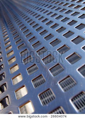 Blue steel grid