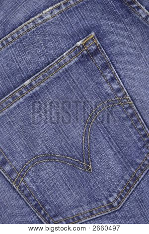 Dark Blue Jeans Pocket