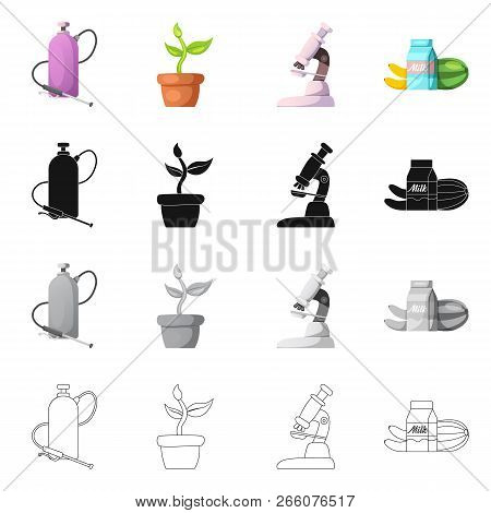 Vector Design Of  And  Icon. Set Of  And  Stock Vector Illustration.