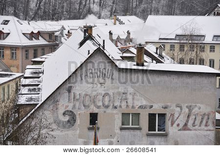 Old chocolate factory in Bern, Switzerland