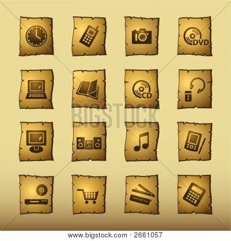 Papyrus Home Electronics Icons