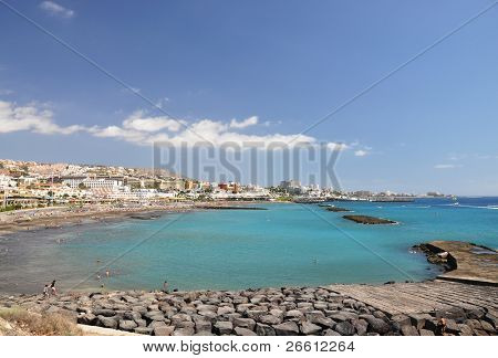 Torviscas Playa. Tenerife island, canaries