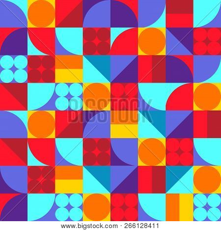 Vector Seamless Geometric Pattern. Simple Texture Design For Home Decor Textile And Fabric. Graphic