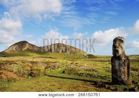 Moai Near Rano Raraku - Easter Island