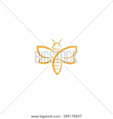 Bee. Bee Vector. Bee icon Vector. Bee symbol. Bee Logo vector. Bee sign. Bee concept vector. Honey Bee Logo design. Bee icon logo vector illustration isolated on white background.